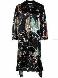 платье на молнии с принтом Paco Rabanne