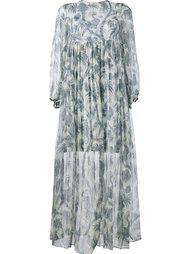 длинное платье с узором Zimmermann