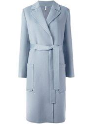 длинное пальто с поясом Helmut Lang