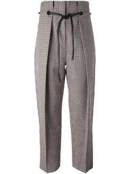 брюки со складками и узором в ломаную клетку 3.1 Phillip Lim