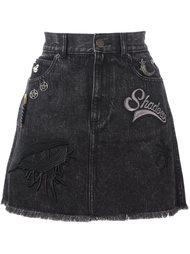 джинсовая юбка с заплатками  Marc Jacobs