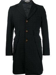 single breasted jacquard coat Comme Des Garçons Homme Plus