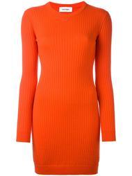 платье с отделкой в рубчик Courrèges