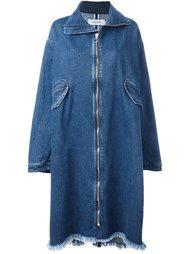 удлиненное джинсовое пальто на молнии Marques'almeida
