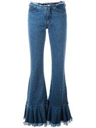 джинсы прямого кроя с расклешенными панелями Marques'almeida