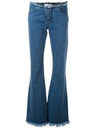 расклешенные джинсы с бахромой Marques'almeida
