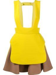 многослойный двухцветный фартук-юбка Delpozo