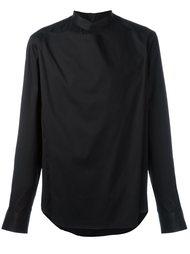 рубашка с накладной вставкой и воротником-стойкой Wooyoungmi