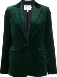 single breasted velvet jacket Frame Denim