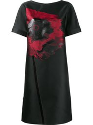 poppy embroidered shift dress Osman