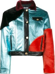 metallic colour block jacket House Of Holland