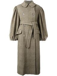 свободное пальто в клетку Simone Rocha