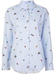 полосатая рубашка с рисунком Mira Mikati