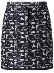 animal print short skirt Thom Browne