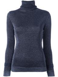 свитер с высокой горловиной и эффектом металлик Allude