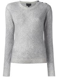 свитер с пуговичной отделкой Emporio Armani