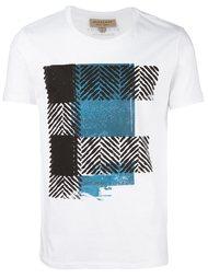 футболка с контрастным принтом Burberry