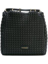стеганый рюкзак со шнуровкой Emporio Armani