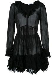 жатое платье с оборками Givenchy