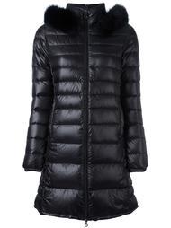 fur trim padded coat Duvetica