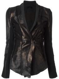 metallic bronze-tone fitted jacket 10Sei0otto