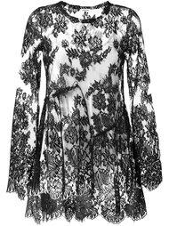 прозрачная кружевная блузка P.A.R.O.S.H.