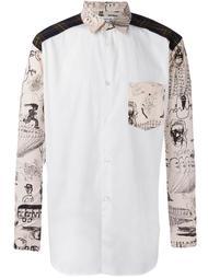рубашка с контрастными рукавами Comme Des Garçons Shirt