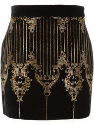 юбка с узором в стиле барокко Balmain