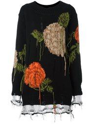 свитер с цветочным принтом   MSGM