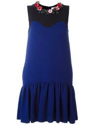 декорированное платье  MSGM