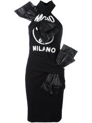платье одно плечо  Moschino