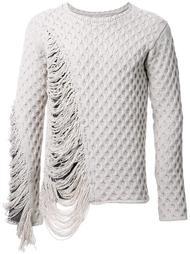 frayed textured knit jumper Maison Mihara Yasuhiro