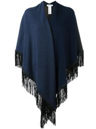fringed knit poncho Allude