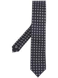 галстук с узором кружочков Corneliani