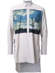 stand collar long shirt Maison Mihara Yasuhiro