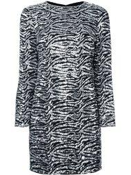 декорированное платье  Saint Laurent