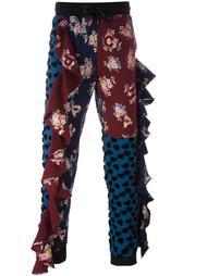 спортивные брюки с панельным дизайном Nicopanda