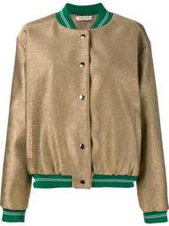 куртка-бомбер с эффектом металлик Tata Naka