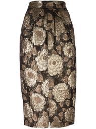 жаккардовая юбка с цветочным узором Christian Pellizzari