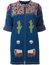декорированное джинсовое платье  Manish Arora