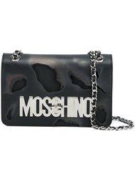 сумка на плечо с жженым эффектом Moschino