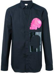рубашка с принтом черепа Cy Choi
