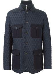 стёганая куртка с накладными карманами Etro