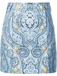 юбка мини с принтом пейсли  Balmain