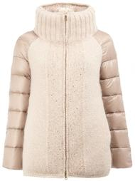 funnel neck puffer jacket Herno