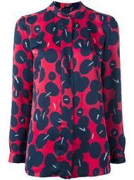 блузка с абстрактным принтом Jil Sander Navy