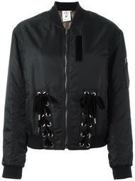 куртка-бомбер с завязками Steve J & Yoni P