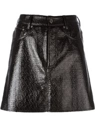 вощеная мини юбка Mm6 Maison Margiela