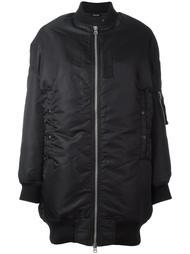 удлиненная дутая куртка бомбер R13