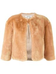 fur effect zipped jacket Elizabeth And James